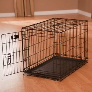 Dog Crate - Cage L :  42L x 28W x 30H Inches