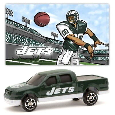 NEW YORK JETS DIECAST TRUCK NFL FORD F-150 PICK-UP 1:87 SCALE W/ STICKER 2 PACK