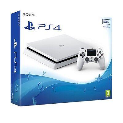 PS4 Slim 500GB Glacier White Console