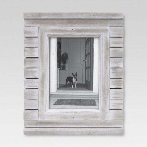 "Threshold 5"" x 7""  Picture Frame White Wash"