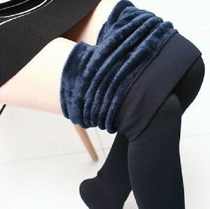 Knitted Thick Leggings Casual Warm Winter Faux Velvet Cashmere Woman Girls Super