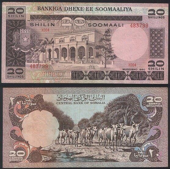 Somalia P 27 - 20 Shilin Shillings 1980 - XF+