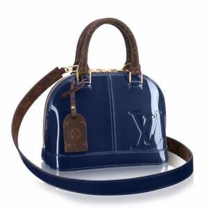 Louis Vuitton Monogram Vernis Alma BB marine