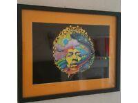Jimmy Hendrix quality framed print