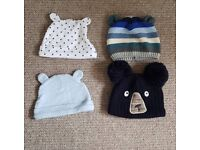 0-3 month baby hats