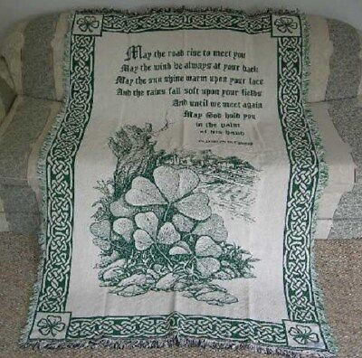 (New May the Road Old Irish Blessing Heavy Cotton Gift Afghan Throw Blanket Large)