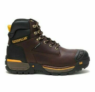 Cat Caterpillar Mens P51020 Excavator Lt 6 Wp St Espresso Work Boots Shoes