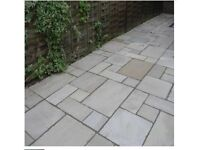 Approximately 16m2 of Indian Sandstone Paving Slabs