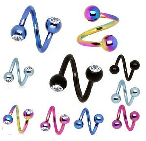 Titanium-Anodized-Spiral-Twist-Belly-Bar-Helix-Tragus-Piercing-Eyebrow-J41