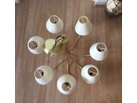 John Lewis 6 arms brass chandelier - perfect condition