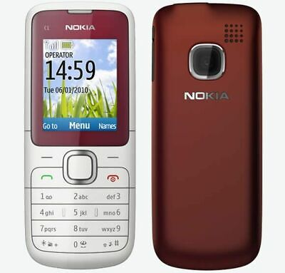 NOKIA C1-01 RED UNLOCKED