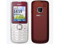 genuine retro nokia mobile phone dark red metal look cover. locked on vodafone network.