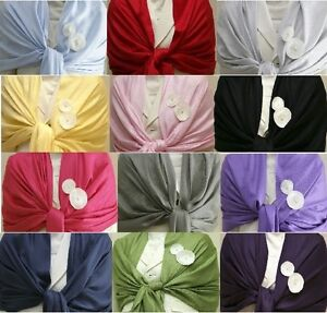 NEW-Solid-Silk-Pashmina-Shawl-Wrap-Stole-Cashmere-Scarf