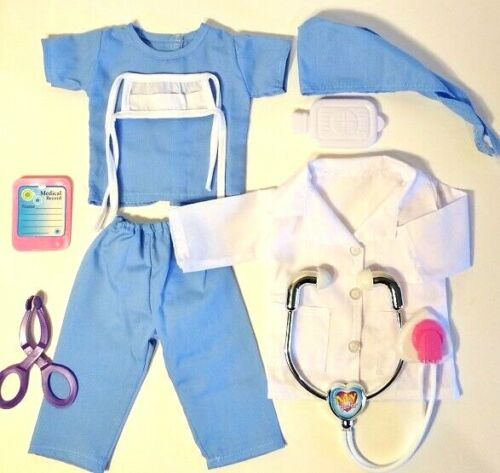 NURSE, SCRUBS, DOCTOR fits American Girl Doll, 18 Inch Doll Clothes 8 Piece Set