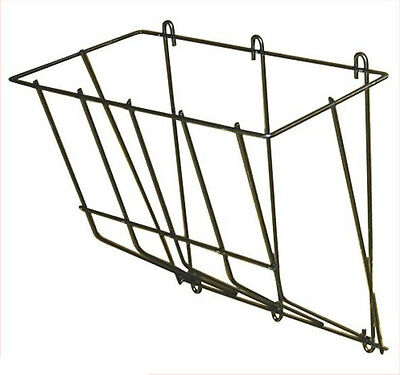 14 Rod Black Powder Coated Steel Wall Mount Hay Rack Goats Sheep Small Horses