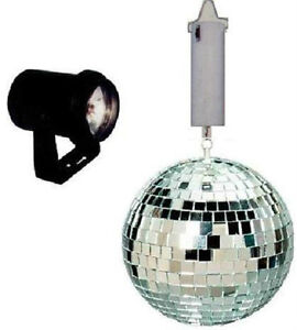 Disco-Lighting-Complete-Package-Light-6-Silver-Mirror-Ball-Color-lenses-motor