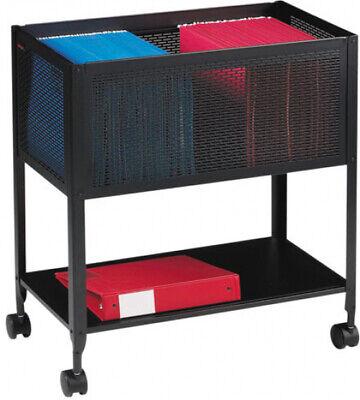 Black 1 Drawer Filing Cart Steel Rolling Folder Cabinet W Bottom Shelf Storage