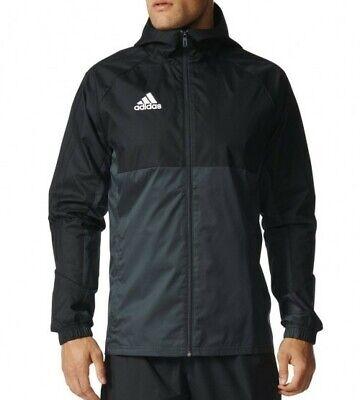Mens Adidas rain jacket Large black/grey RRP59.99