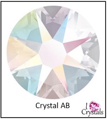 CRYSTAL AB Swarovski Flatback Rhinestone 3ss 4ss 5ss 7ss 9ss 12ss 16ss 20ss - 20ss Crystal Ab Swarovski Rhinestones