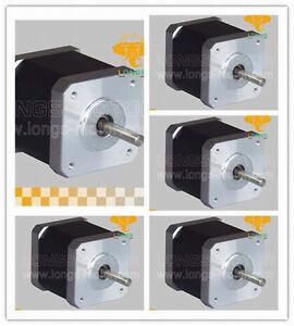 5pcs-Nema17-stepper-motor-with-4000G-CM-1-7A-0-9Degree-48mm-length-4leads
