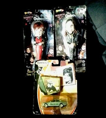 The Osbourne Family ~ Bobbing Head Pens + Sharon Osbourne Car *NEW~NIP* OZZY LOT