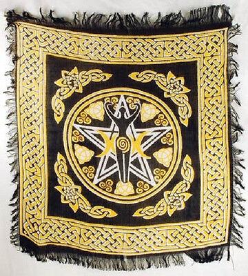"Pentagram Goddess Altar/Tarot Cloth 18"" x18"" Wicca Pagan"