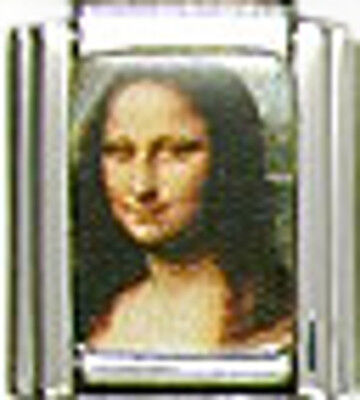 1 Mona Lisa Photo 9MM NEW Stainless Steel Italian CharmBrand New!