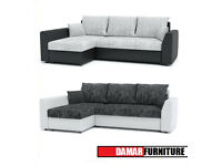 CORNER SOFA PAUL - NEW with storage container & sleep function MANY COLOURS we deliver to all uk