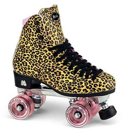 Moxi Ivy Jungle Outdoor Quad Roller Skates Leopard Print w/