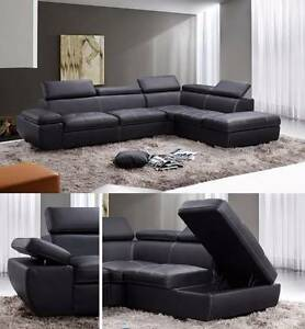 Brand New CU/Genuine Leather Sofa Set with/without Storage