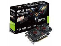 ASUS STRIX-GTX750TI-DC2OC-4GD5 graphics card - Never used, New condition and Boxed