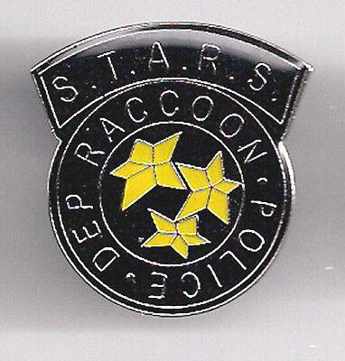 "Resident Evil Raccoon Police 1"" Tall Logo Enamel/Metal Pin- FREE S&H (REPI-02)"