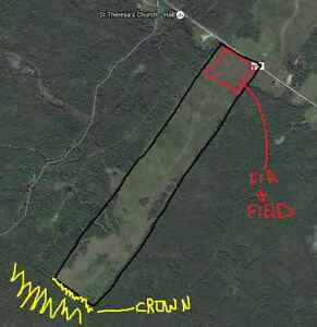 98.8 acres, for hunting camp or house, crown land access