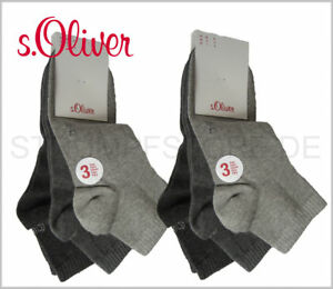 s oliver sneaker quarter socken damen herren 6 paar. Black Bedroom Furniture Sets. Home Design Ideas