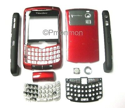 Full Housing Sunset Red for Blackberry Curve 8300 8310 8320 8300 Curve Faceplate