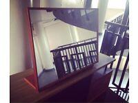 Vintage 1960s tilting table top mirror teak modernist mid century retro