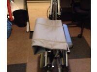 Small wheeled wheel chair