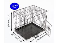 Large, used dog cage just £20!