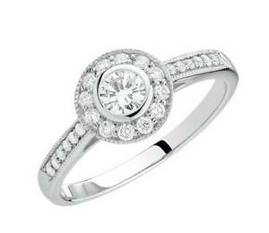 Engagement Ring with 1/2 Carat TW of Diamonds in 18ct White Gold Chatswood Willoughby Area Preview