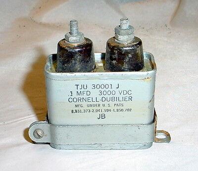 Cornell Dubilier Pio Oil Capacitor 0.1uf 3000 Vdc