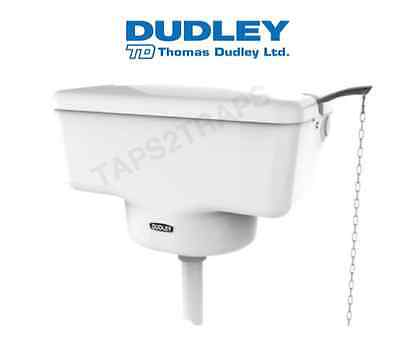 Thomas Dudley Tri-Well High Level White Victorian Style Toilet Cistern - Chain