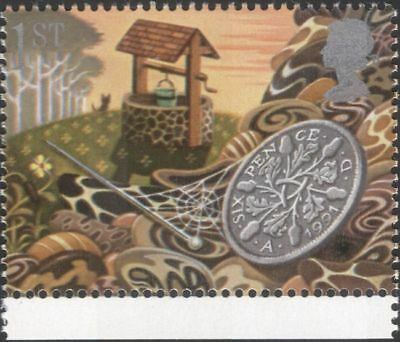 Gb 1991 Greetings Good Luck Wishing Well Sixpence Money Fortune 1V  N30824h