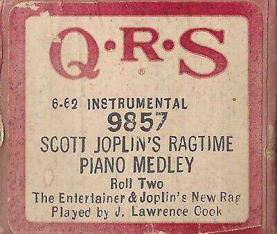 Pianola Rolls x 2 Scott Joplin Ragtime 2 tunes from The Sting Film