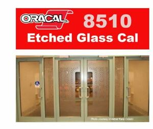 "Oracal 8510 Etched Glass Film - Gold 12"" x 24"" sheet"