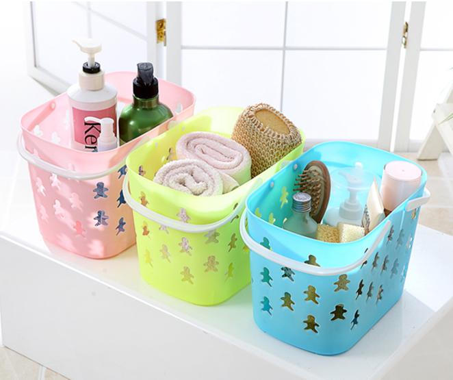 bath spa stacking plastic baskets bins kid