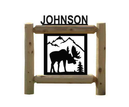 PERSONALIZED MOOSE SIGNS - WILDLIFE ART