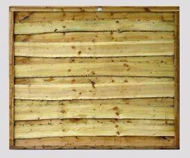 Heavy Duty Waneylap Tanalised Green 10mm Boards 6ft x 6ft £29.00 Each