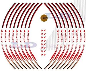16X HONDA REFLECTIVE WHEEL Decals TAPE Rim Stickers For Motorcycle Free Shipping