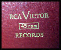 RCA VICTOR - RED SEAL 45 RPM RECORDS & BOOK