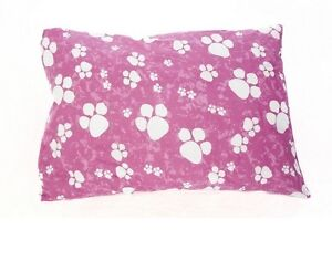pet dog bed cushion removable zipped cover pink white paws ebay. Black Bedroom Furniture Sets. Home Design Ideas